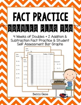 Fact Practice:  Doubles Plus 2 Addition & Subtraction
