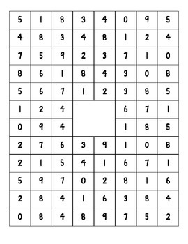 Fact Practice Number Search
