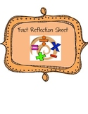 Fact Reflection Sheet {Addition, Subtraction, Multiplicati