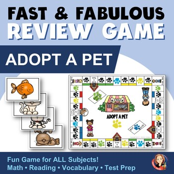 Fact Review Game - Adopt a Pet Theme to Review Any Subject