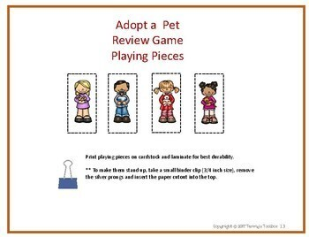 Fact Review Game Adopt a Pet Theme to Review Any Subject