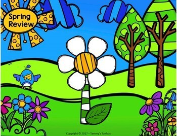 Fact Review Game - Spring Build a Flower Game and Craft to Review Any Subject