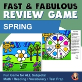 Fact Review Game - Spring Build a Flower Game and Craft to