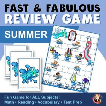 Fact Review Game - Summer Theme Game to Review Any Subject