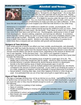 Fact Sheet: Alcohol and Teens