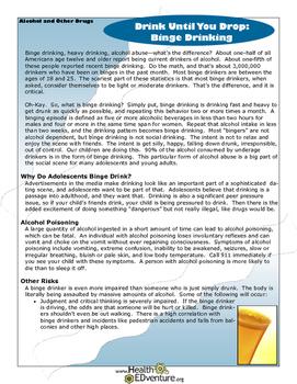 Fact Sheet: Binge Drinking Dangers
