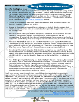 Fact Sheet: Drug Use Prevention