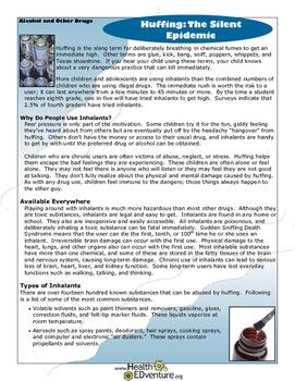 Fact Sheet: Huffing-The Silent Epidemic