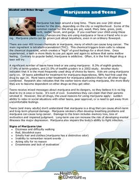 Fact Sheet: Marijuana and Teens