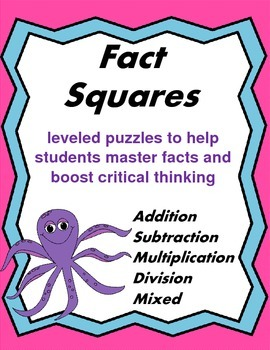 Fact Squares: Fact Fluency Puzzles