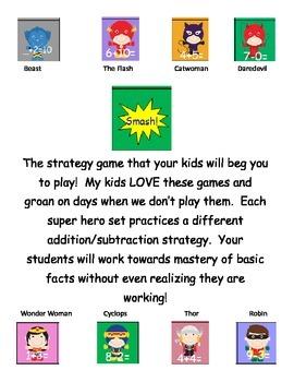 Fact Strategies Superhero Smash Card Games