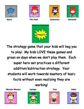 Fact Strategies Superhero Smash Card Games