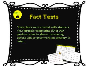Fact Tests for Struggling Learners