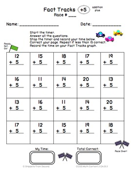 Fact Tracks Addition Plus: Differentiated & Student Guided Fact Fluency Program
