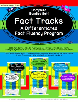 Fact Tracks Complete Bundled Set: A Differentiated Fact Fluency Program