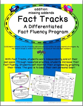 Fact Tracks Missing Addends: A Differentiated Fact Fluency Program