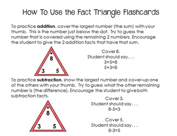 Fact Triangle Flashcards *BUNDLE*(Addition and Subtraction)