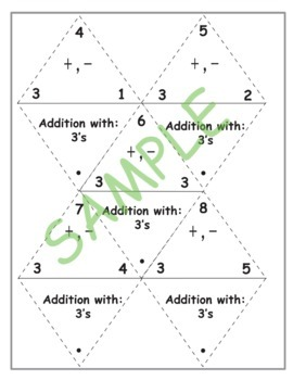 Fact Triangle Practice Cards:  Addition & Subtraction Set
