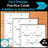Fact Triangle Practice Cards Addition and Subtraction Set