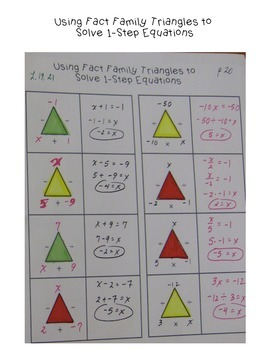 Fact Triangle Strategy for Solving Equations