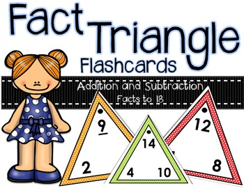 Fact Triangle Flashcards (Addition and Subtraction)