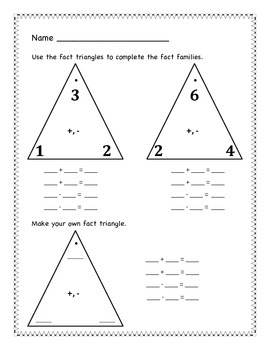 Fact Triangles and Families