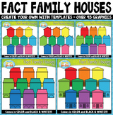 Fact Family / Word Family Houses Clipart {Zip-A-Dee-Doo-Dah Designs}
