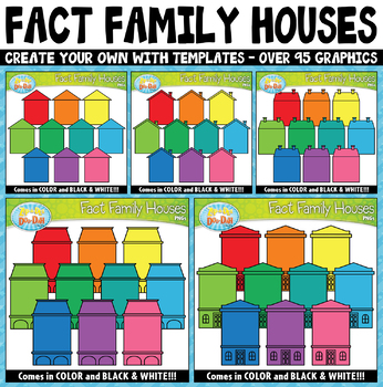 Fact Family / Word Family Houses Clipart {Zip-A-Dee-Doo-Dah Designs}