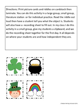 Fact and Details-St. Patrick's Day Theme