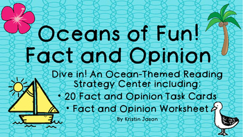 Oceans of Fun Fact and Opinion Task Cards