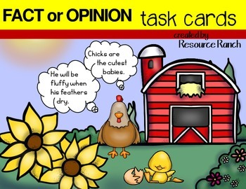 Fact and Opinion Chicken Themed