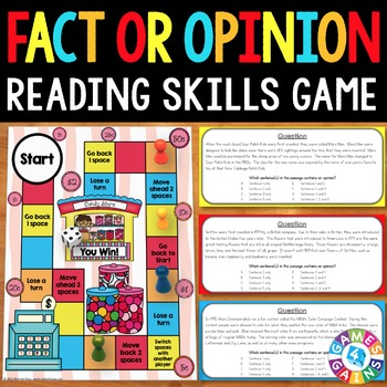 Fact and Opinion Activity: Fact and Opinion Reading Game