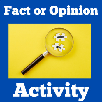 Fact and Opinion Task Cards | Fact and Opinion Activity | Fact or Opinion