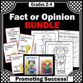Fact and Opinion Task Cards BUNDLE 3rd 4th Grade ELA Distance Learning Packet