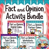 Fact and Opinion Activities Bundle