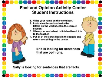 Fact and Opinion Activity Center and MORE