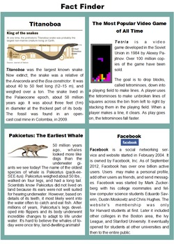 Fact and Opinion Activity Pack