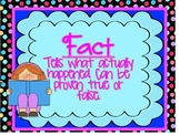 Fact and Opinion Anchor Charts