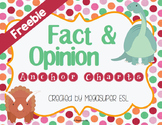 Fact and Opinion Anchor Charts Freebie