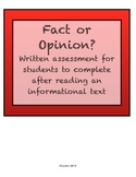 Fact and Opinion Assessment