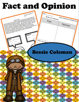 Fact and Opinion Bessie Coleman Readings NonFiction