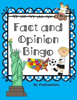 Fact and Opinion Bingo