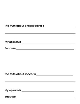 Fact and Opinion Book