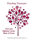 Fact and Opinion Cards -- State of Texas Facts
