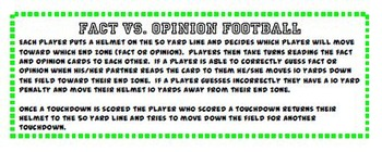 Fact vs. Opinion Reading Center Activity