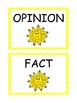 Fact and Opinion Centers