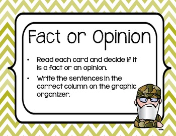 Fact and Opinion Centers All Year Long