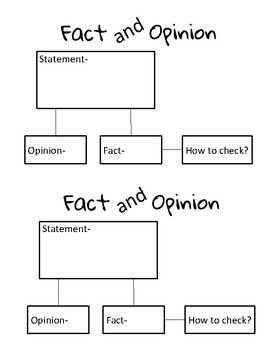 Fact and Opinion Chart