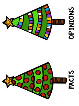 Fact and Opinion Christmas Sort