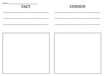 Fact and Opinion Coloring Page